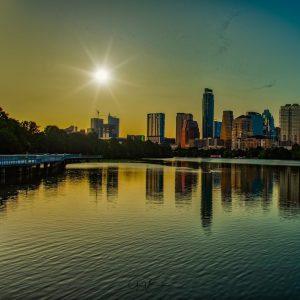 Setting Sun in Austin