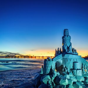 Sunset Sandcastle