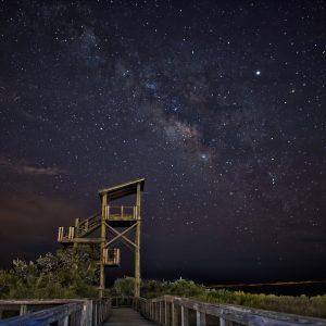 Big Lagoon Under the Stars
